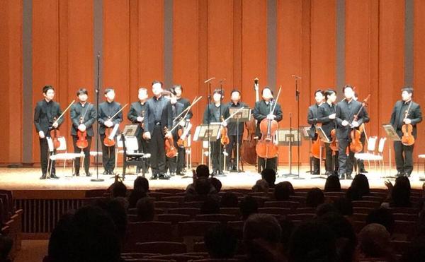 17人での弦楽合奏コンサートを財団が共催。感動しました